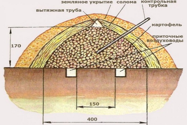 Бурт для хранения картофеля